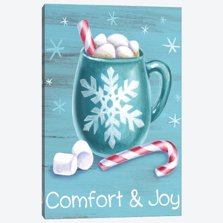 Peppermint Cocoa III-Comfort & Joy Canvas Print #KEW6} by Kelsey Wilson Canvas Artwork