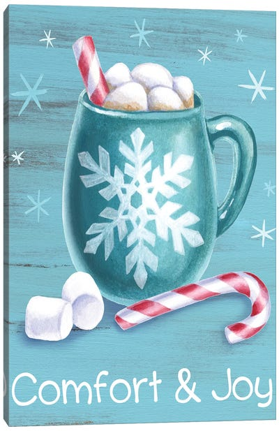 Peppermint Cocoa III-Comfort & Joy Canvas Art Print
