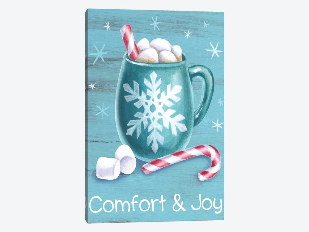 Peppermint Cocoa III-Comfort & Joy by Kelsey Wilson 1-piece Canvas Art Print