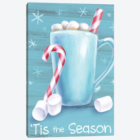 Peppermint Cocoa II-Tis the Season Canvas Print #KEW7} by Kelsey Wilson Canvas Art