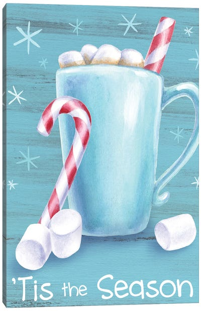 Peppermint Cocoa II-Tis the Season Canvas Art Print