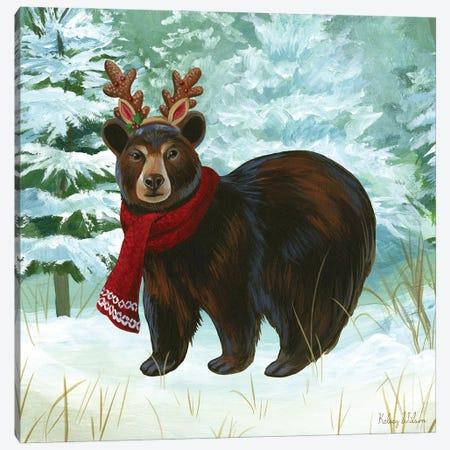 Winterscape I-Bear Canvas Print #KEW8} by Kelsey Wilson Canvas Art Print