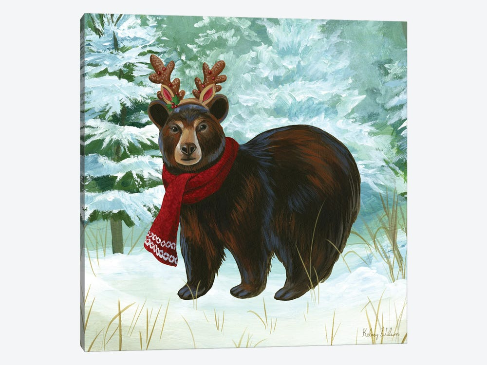 Winterscape I-Bear by Kelsey Wilson 1-piece Art Print