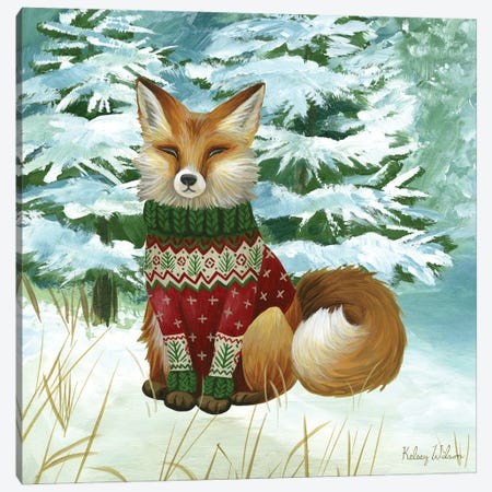 Winterscape II-Fox Canvas Print #KEW9} by Kelsey Wilson Canvas Print
