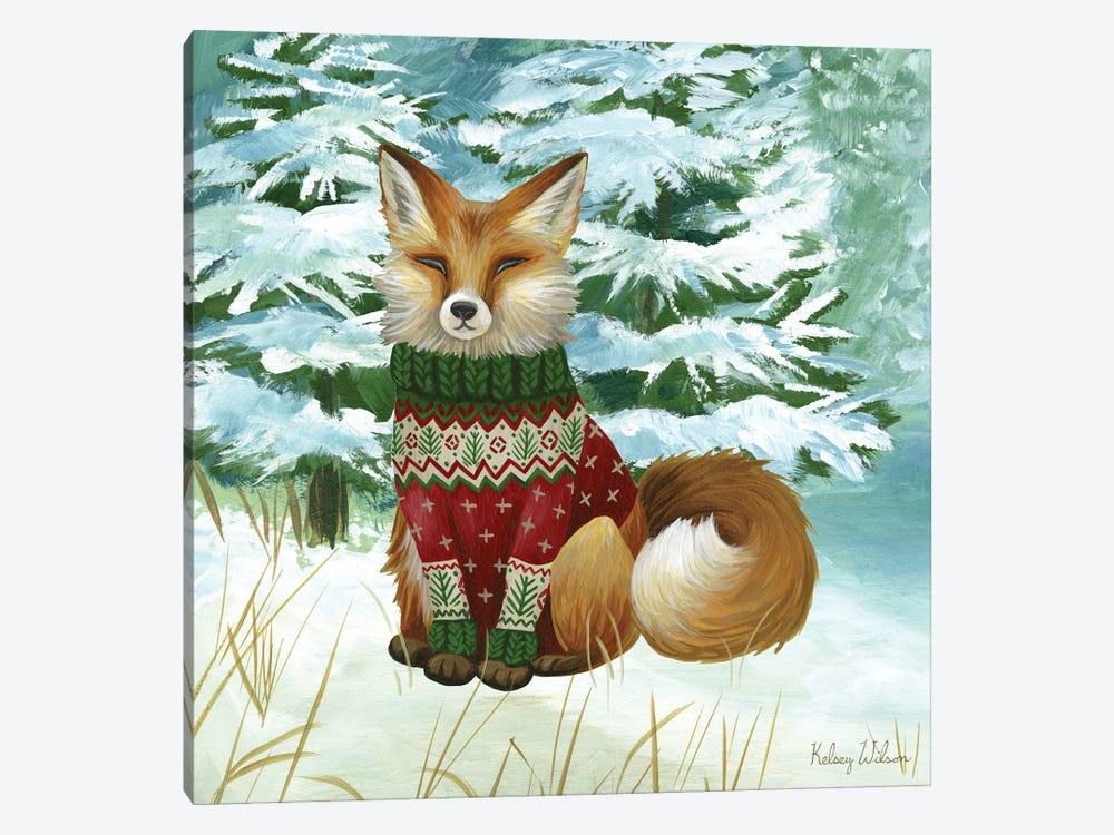 Winterscape II-Fox by Kelsey Wilson 1-piece Canvas Art