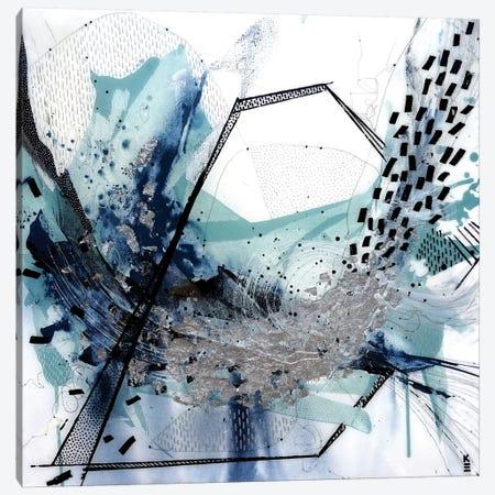 Geo Swoosh Sage Canvas Print #KEZ17} by Kristen Elizabeth Canvas Artwork