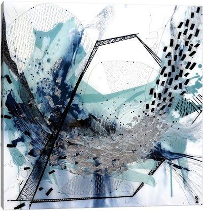 Geo Swoosh Sage Canvas Art Print
