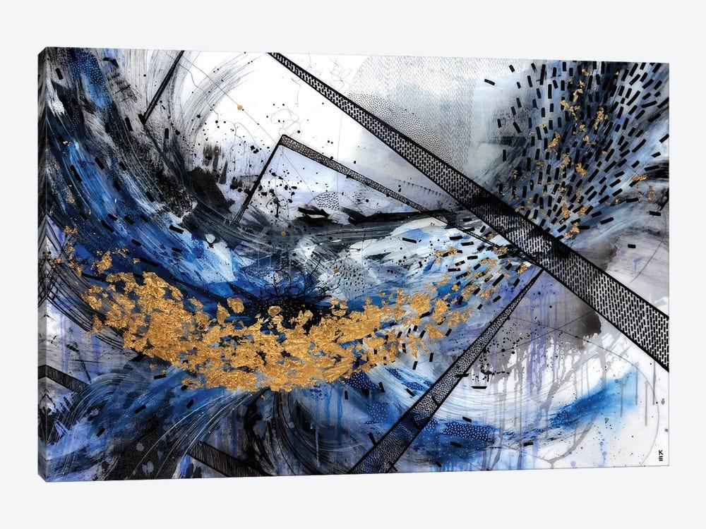 Geo Swoosh Structure by Kristen Elizabeth 1-piece Canvas Artwork