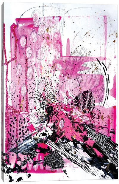 Splash Of Pink Canvas Art Print