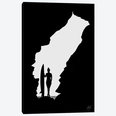 Surfing Canvas Print #KFD111} by Kathrin Federer Canvas Art Print
