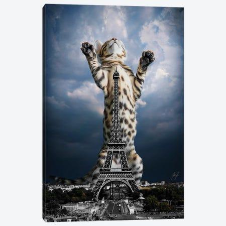 Paris mon Amour Canvas Print #KFD152} by Kathrin Federer Art Print