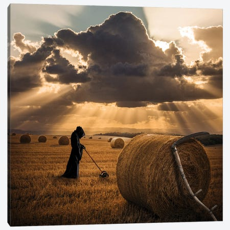 The Grim Reapers Side Job Canvas Print #KFD157} by Kathrin Federer Canvas Artwork