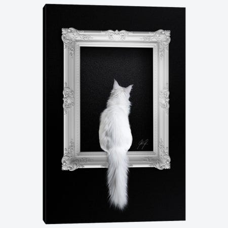 Cat In Frame Canvas Print #KFD160} by Kathrin Federer Canvas Art