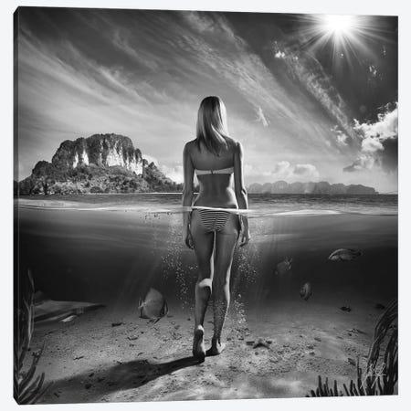 Bikini Girl I Canvas Print #KFD7} by Kathrin Federer Canvas Art Print