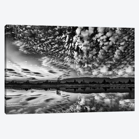 Clouds Trickle Canvas Print #KFD8} by Kathrin Federer Canvas Artwork