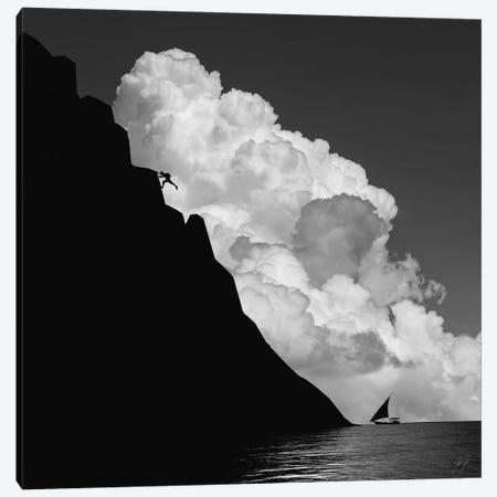No Risk, No Fun Canvas Print #KFD98} by Kathrin Federer Art Print