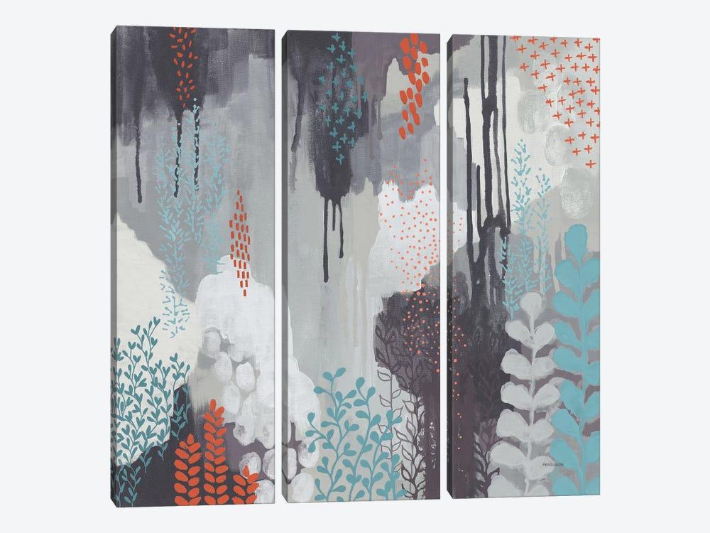 Gray Forest I by Kathy Ferguson 3-piece Canvas Artwork