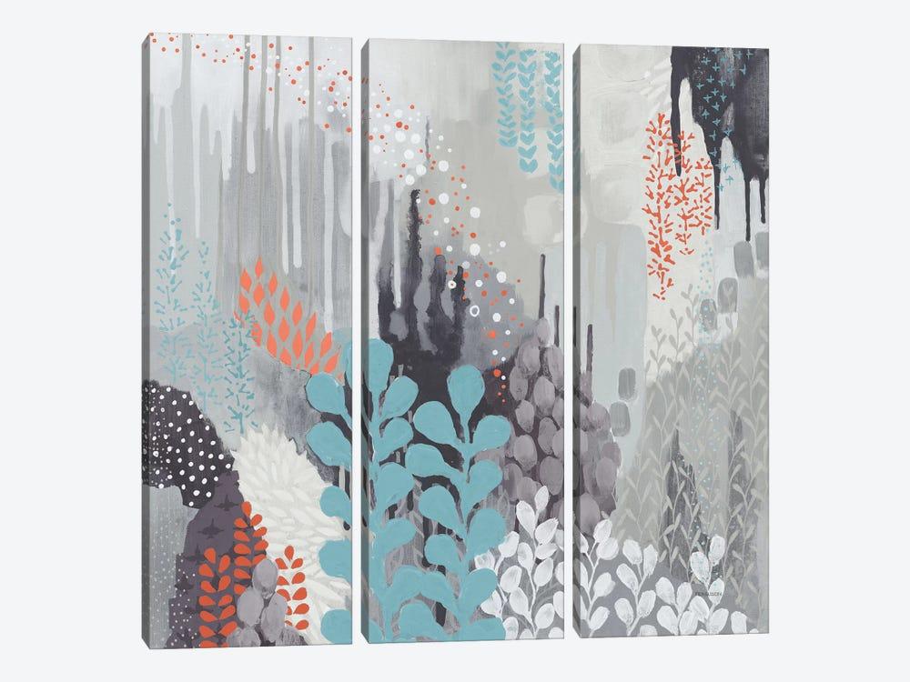 Gray Forest II by Kathy Ferguson 3-piece Canvas Print
