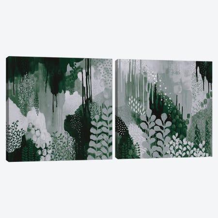 Green Forest Diptych Canvas Print Set #KFE2HSET001} by Kathy Ferguson Canvas Art Print