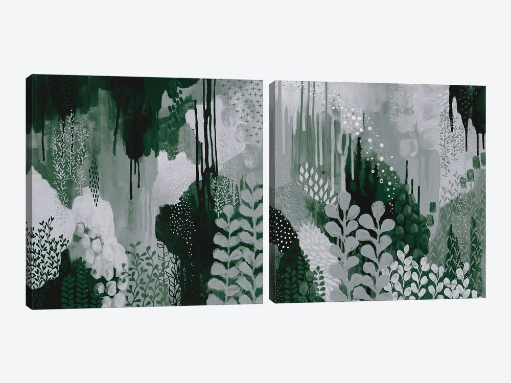 Green Forest Diptych by Kathy Ferguson 2-piece Canvas Print