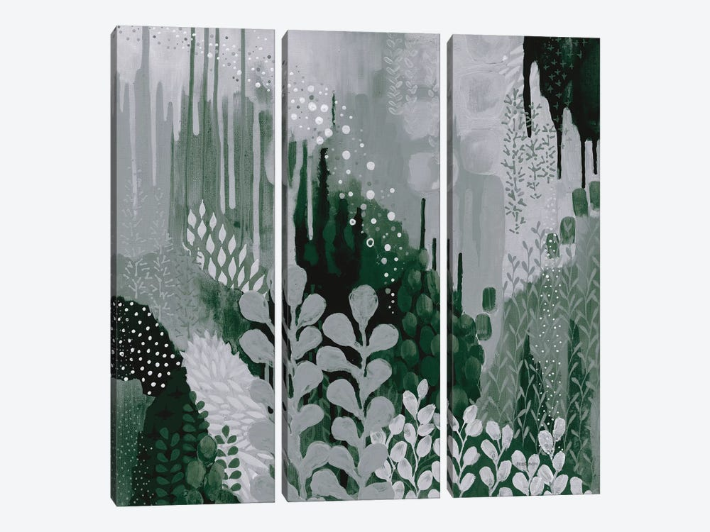 Green Forest II by Kathy Ferguson 3-piece Canvas Art Print