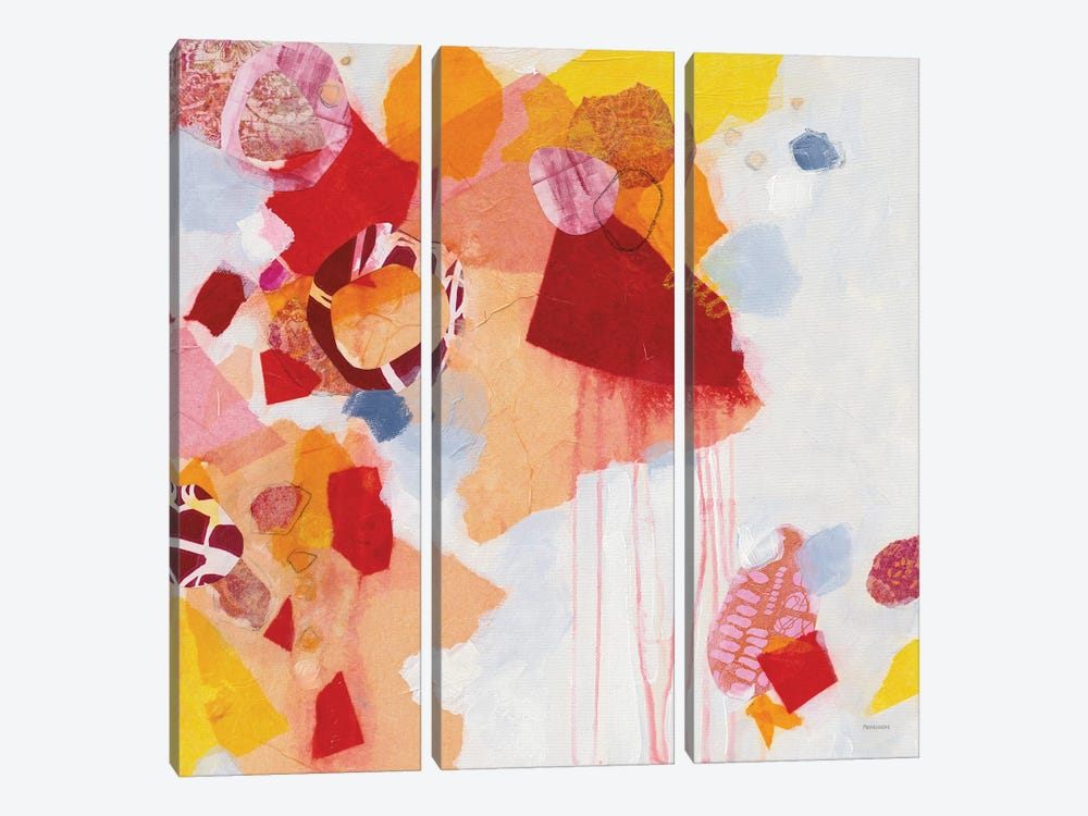 Falling Apart by Kathy Ferguson 3-piece Canvas Artwork