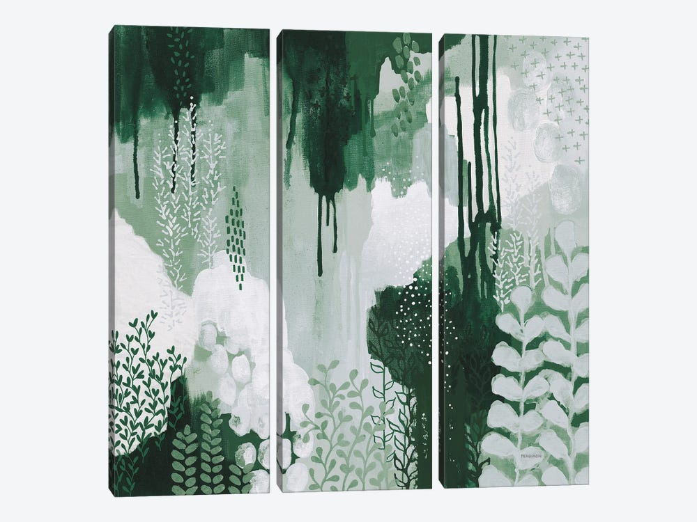 Light Green Forest I by Kathy Ferguson 3-piece Canvas Print