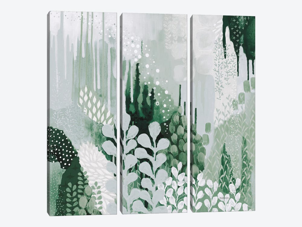 Light Green Forest II by Kathy Ferguson 3-piece Canvas Wall Art