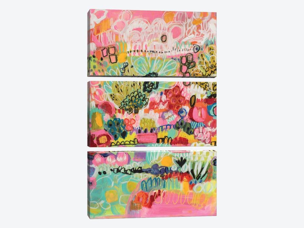 Boho Garden III by Karen Fields 3-piece Canvas Print
