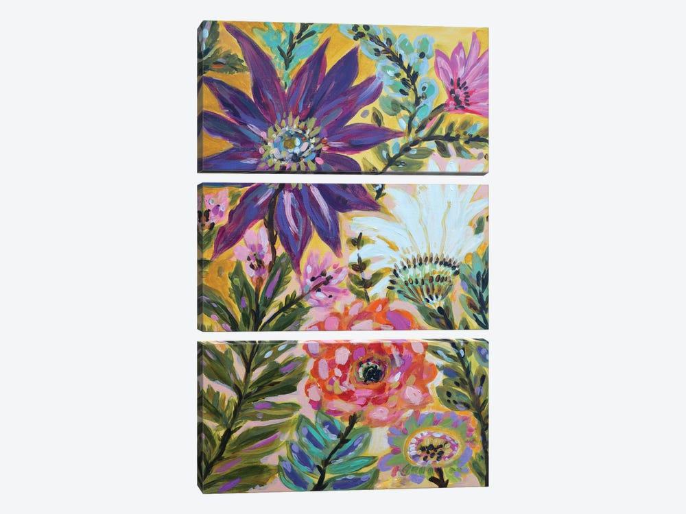 Garden Of Whimsy I by Karen Fields 3-piece Canvas Art