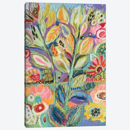Garden Of Whimsy II Canvas Print #KFI12} by Karen Fields Canvas Wall Art