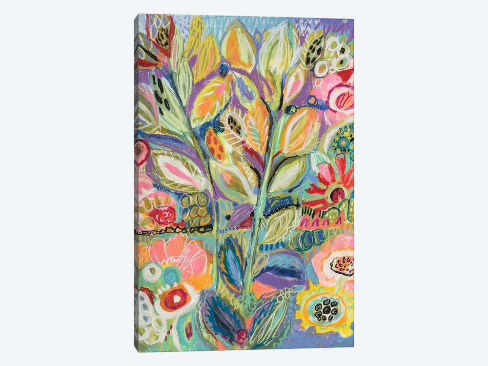 Garden Of Whimsy II by Karen Fields 1-piece Canvas Art Print
