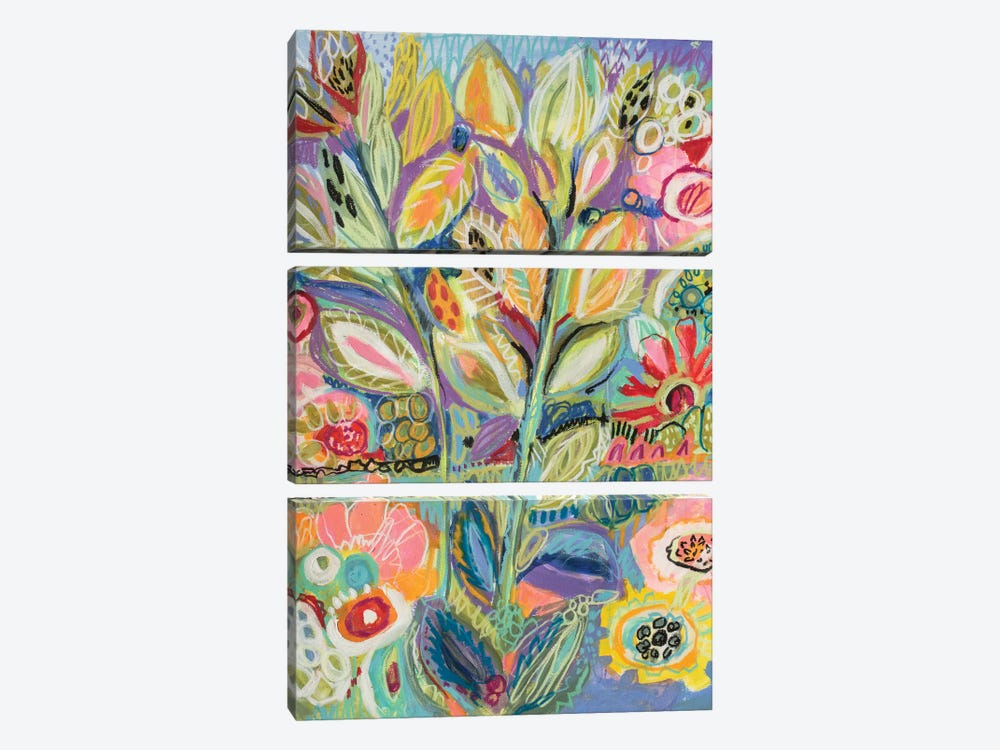 Garden Of Whimsy II by Karen Fields 3-piece Art Print