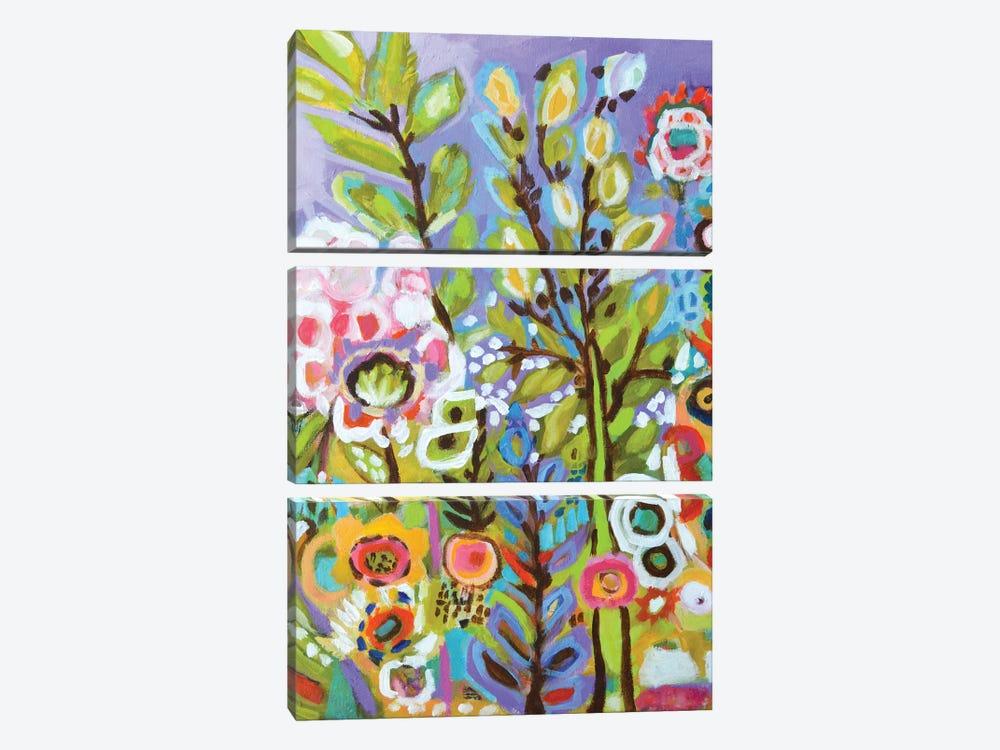 Garden Of Whimsy III by Karen Fields 3-piece Canvas Art