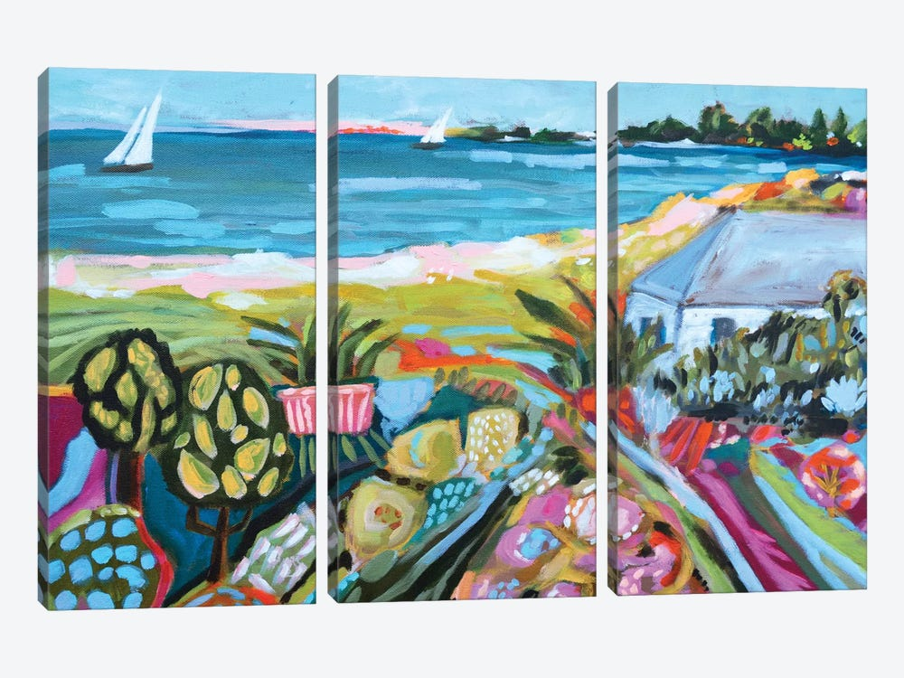 Nautical Whimsy I by Karen Fields 3-piece Canvas Print