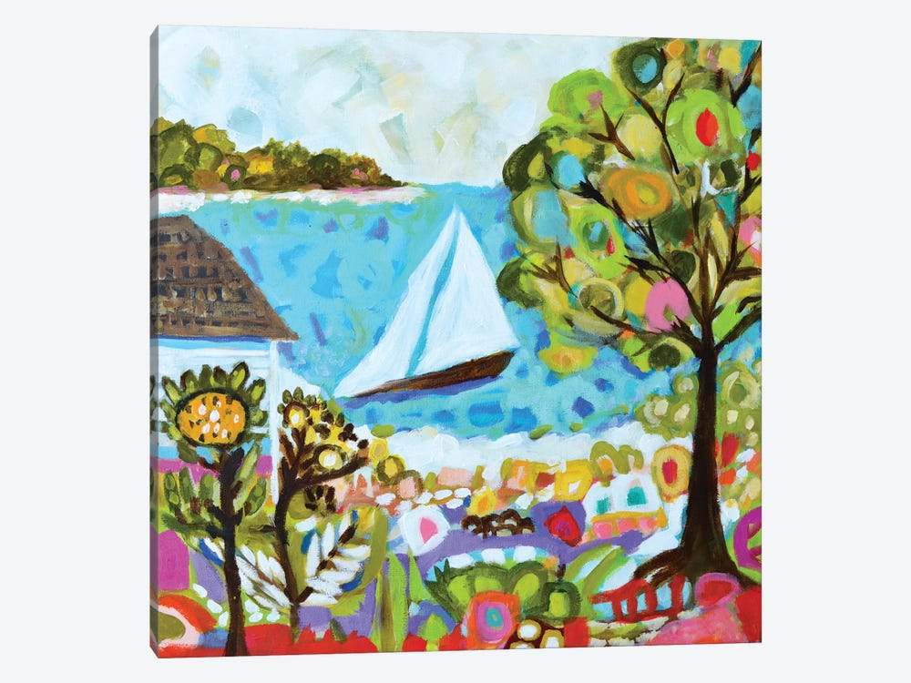 Nautical Whimsy V by Karen Fields 1-piece Canvas Wall Art