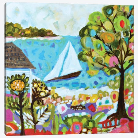 Nautical Whimsy V Canvas Print #KFI20} by Karen Fields Canvas Art Print