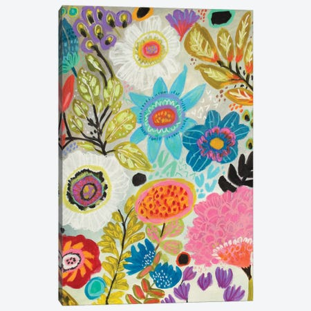 Secret Garden Floral I Canvas Print #KFI21} by Karen Fields Art Print