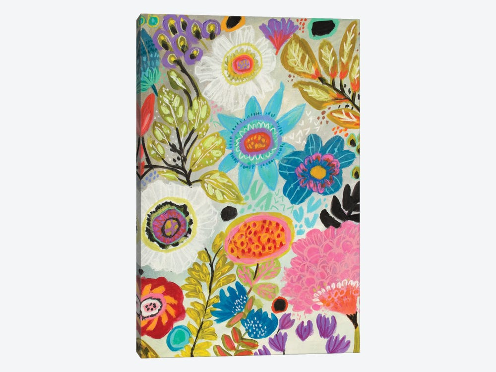 Secret Garden Floral I by Karen Fields 1-piece Canvas Art Print