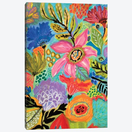 Secret Garden Floral II Canvas Print #KFI22} by Karen Fields Canvas Art Print