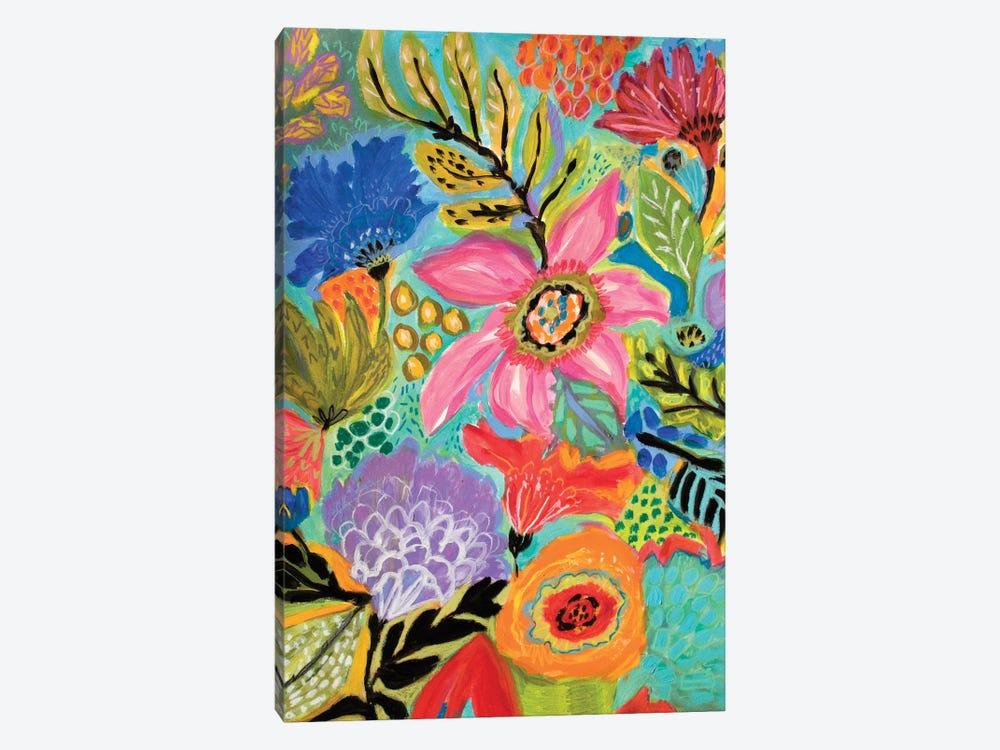 Secret Garden Floral II by Karen Fields 1-piece Canvas Art