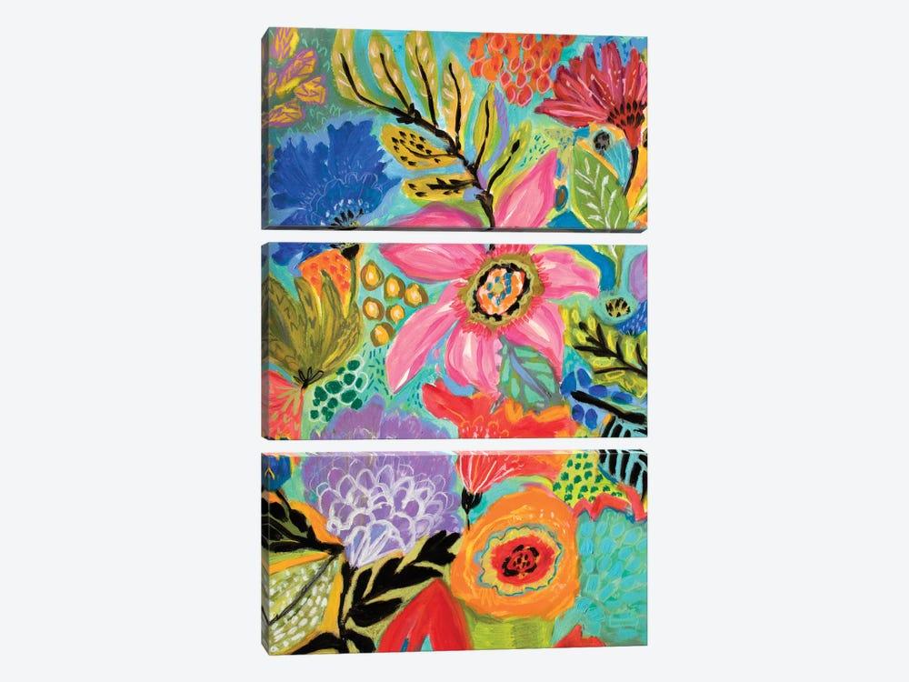 Secret Garden Floral II by Karen Fields 3-piece Canvas Wall Art