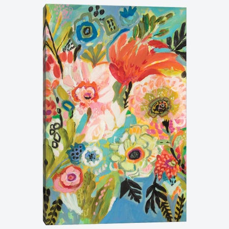 Secret Garden Floral III Canvas Print #KFI23} by Karen Fields Canvas Art Print