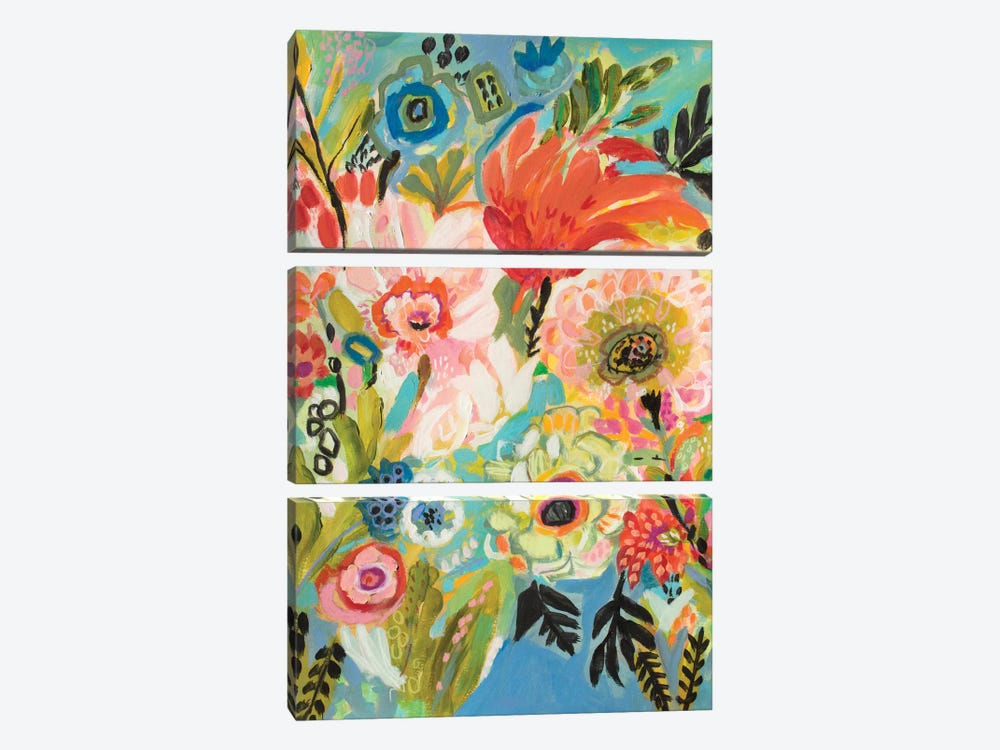 Secret Garden Floral III by Karen Fields 3-piece Canvas Art Print
