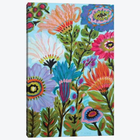 Secret Garden Floral IV Canvas Print #KFI24} by Karen Fields Canvas Art