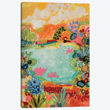 Whimsical Pond I Canvas Print #KFI25} by Karen Fields Canvas Artwork
