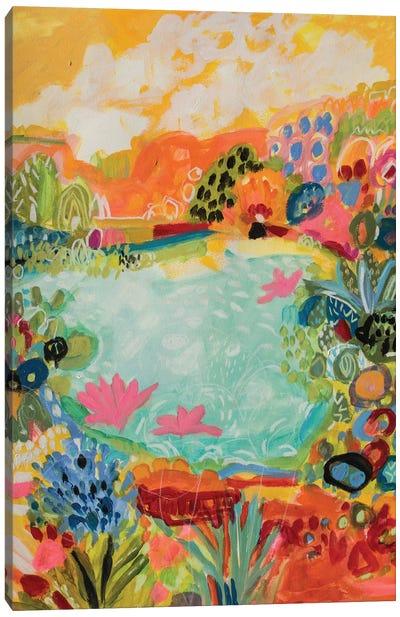 Whimsical Pond I Canvas Print #KFI25