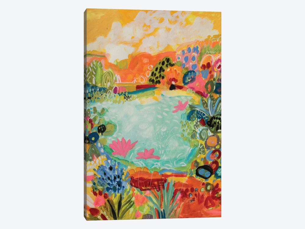 Whimsical Pond I by Karen Fields 1-piece Canvas Art Print