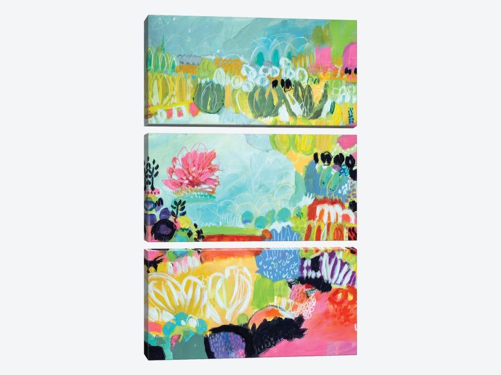 Whimsical Pond II by Karen Fields 3-piece Canvas Art