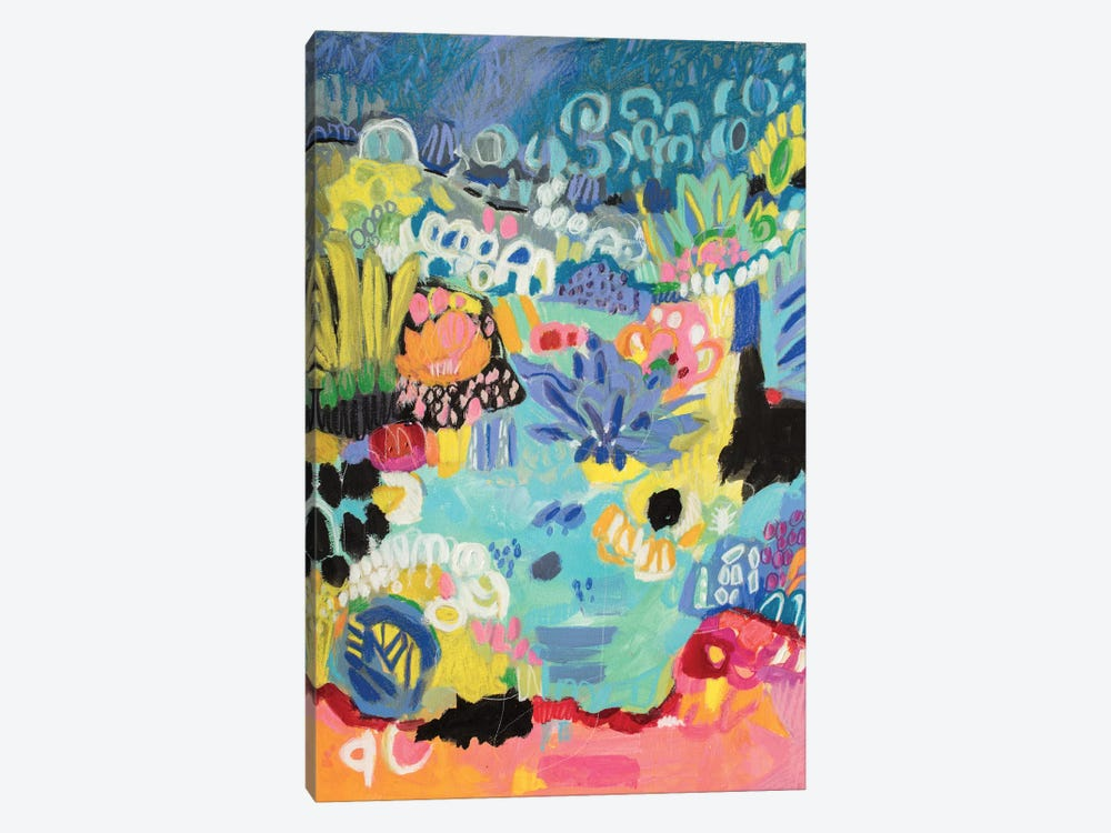 Whimsical Pond III by Karen Fields 1-piece Canvas Art Print